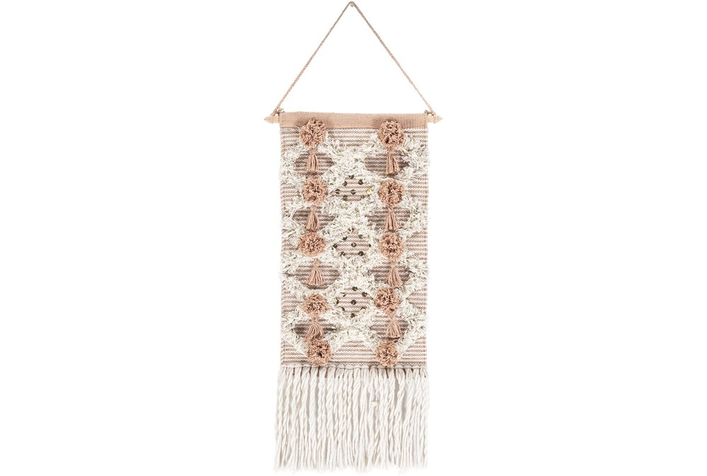 Wall Tapestry-Woven Fringe Camel 14X22