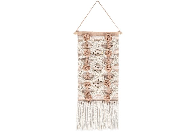 Wall Tapestry-Woven Fringe Camel 14X22 - 360