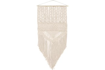 Wall Tapestry-Marcrame Fringe Cream Large 29X60