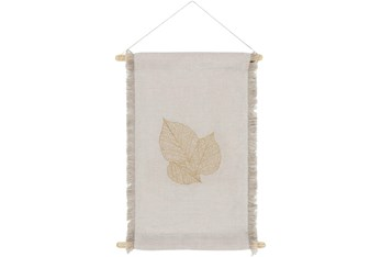 Wall Tapestry-Embroidered Leaf 12X18