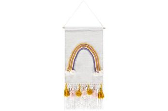 Wall Tapestry-Rainbow Tassels 14X30