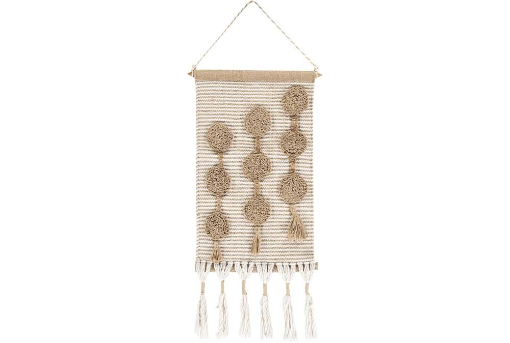 Wall Tapestry-Jute Tassels Natural 14X22