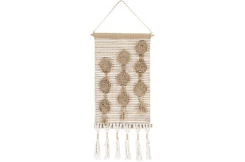 Wall Tapestry-Jute Tassels Natural 14X22