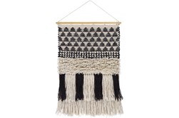 Wall Tapestry-Overstitch Black Ivory 20X32