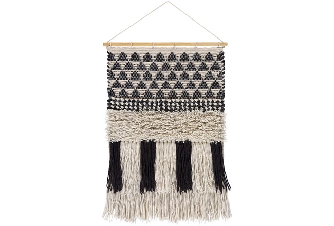 Wall Tapestry-Overstitch Black Ivory 20X32 - 360
