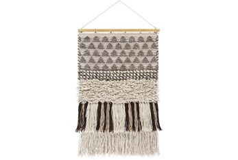 Wall Tapestry-Overstitch Brown Ivory 20X32
