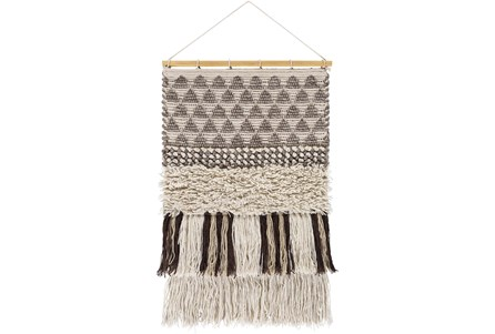 Wall Tapestry-Overstitch Brown Ivory 20X32 - Main