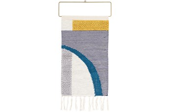 Wall Tapestry-Multicolor Abstract Fringe 16X26