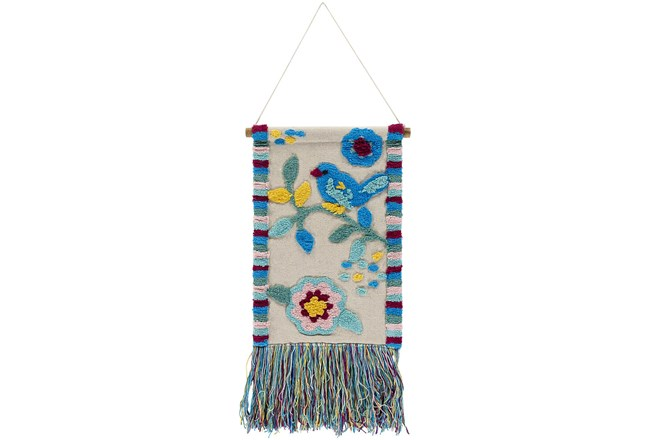 Wall Tapestry-Embroidered Bird 16X26 - 360