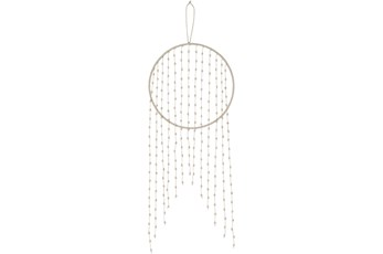 Wall Tapestry-Macrame Beaded Hoop 12X30