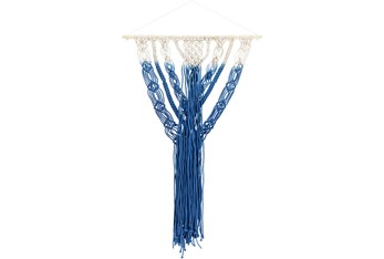 Wall Tapestry-Macrame Shades Of Blue 29X20
