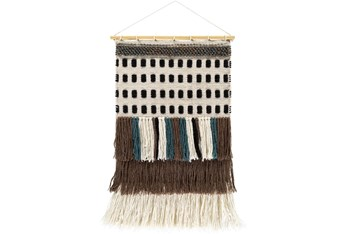 Wall Tapestry-Woven Brown Teal 20X32