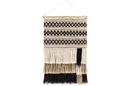 Wall Tapestry-Woven Black Khaki 20X32