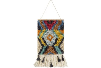 Wall Tapestry-Hand Knotted Multicolor 17X23