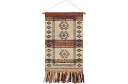 Wall Tapestry-Hand Woven Wheat Navy 29X48