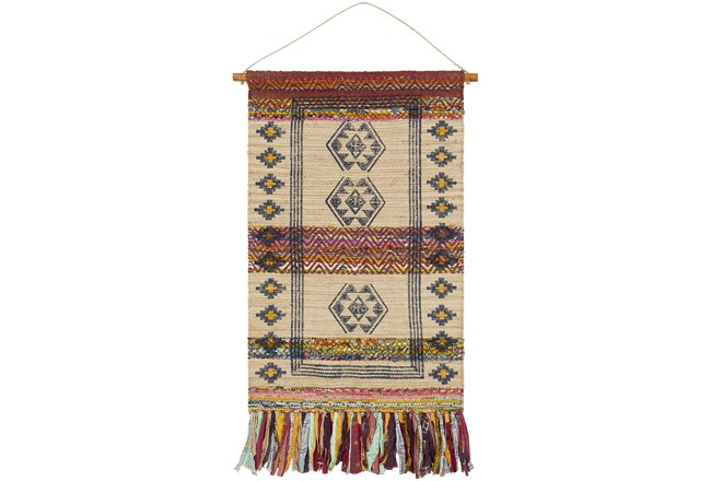 Wall Tapestry-Hand Woven Wheat Navy 29X48 - 360