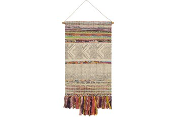 Wall Tapestry-Hand Woven Wheat Charcoal 29X48