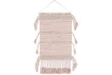 Wall Tapestry-Woven Pale Pink 24X36