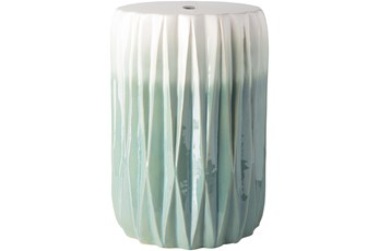 Outdoor Aqua And White Garden Stool