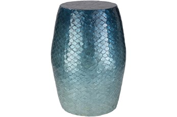 Shell Blue End Table