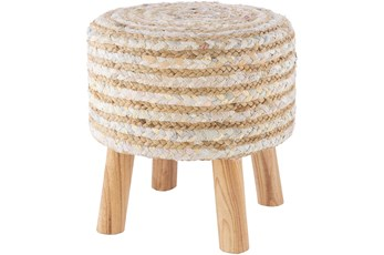 Natural Stripe Stool