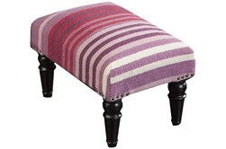 Pink And Purple Stripe Stool