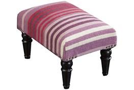 Pink And Purple Stripe Stool