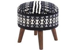 Black And White Storage Stool