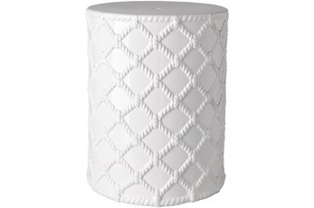 Outdoor White Garden Stool