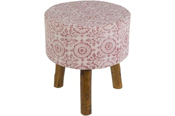 Pink And White Stool