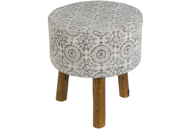 Charcoal And White Stool - 360