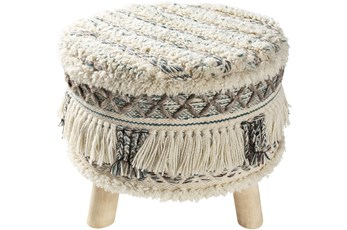 Multicolor Fringed Stool