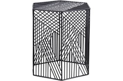 Outdoor Black Metal Garden Stool