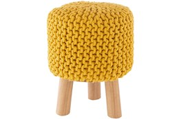 Saffron Knitted Stool