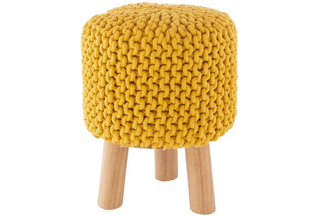 Saffron Knitted Stool - 360