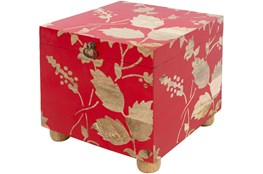 Bright Red Storage Cube