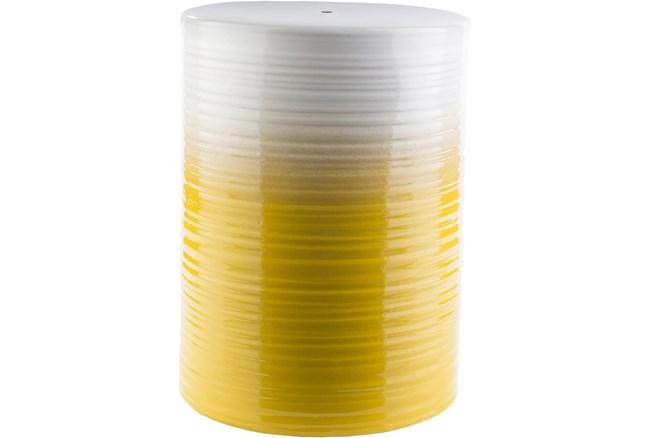 Outdoor Yellow And White Garden Stool - 360
