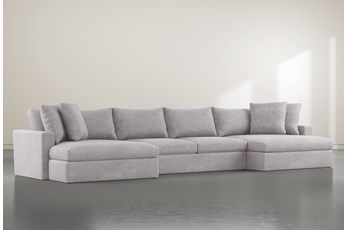 Grand Down 3 Piece Sectional With Double Chaise