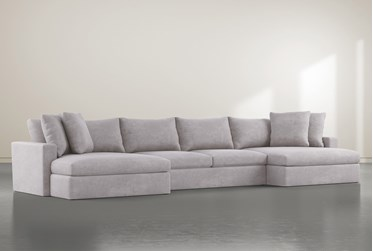 """Grand Down 3 Piece 166"""" Sectional With Double Chaise"""