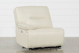 Marcus Oyster Left Arm Facing Power Recliner With Power Headrest And USB