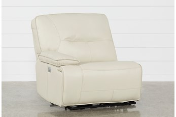 Marcus Oyster Laf Power Recliner W/Power Headrest And Usb