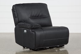 Marcus Black Left Facing Power Recliner With Power Headrest & USB