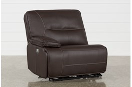 Marcus Chocolate Left Arm Facing Power Recliner With Power Headrest And USB