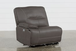 Marcus Grey Left Arm Facing Power Recliner With Power Headrest And Usb
