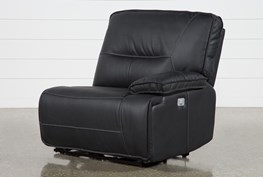 Marcus Black Right Facing Power Recliner With Power Headrest & USB