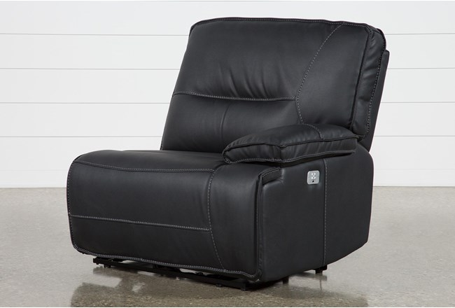 Marcus Black Right Facing Power Recliner W/Power Headrest & Usb - 360