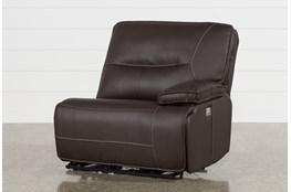Marcus Chocolate Right Facing Power Recliner With Power Headrest And USB