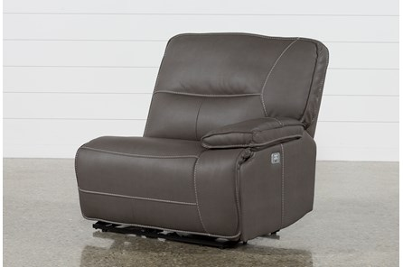 Marcus Grey Right Facing Power Recliner W/Power Headrest And Usb - Main