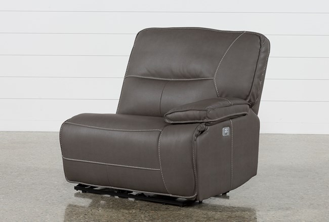 Marcus Grey Right Facing Power Recliner With Power Headrest And USB - 360