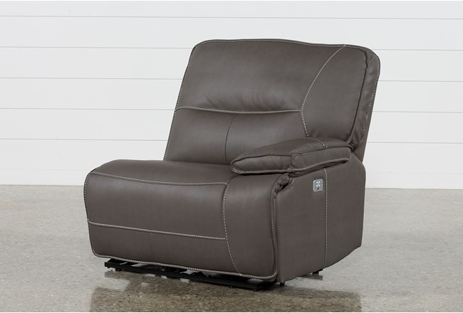 Marcus Grey Right Facing Power Recliner W/Power Headrest And Usb - 360